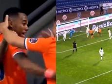 Gol de Robinho afunda o Fenerbahçe. Capturas/beINSports