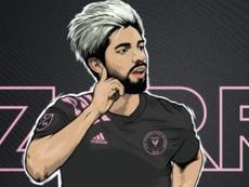 Pizarro, anunciado um dia depois de sua estreia. InterMiamiFC
