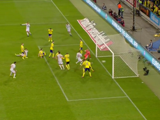 Rodrigo levelled for Spain, a goal which meant Spain qualified for Euro 2020. Captura/RTVE1