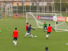 Rodrygo a marqué sur une action de Vinicius. Capture/CBFTV