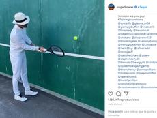 Federer retó a muchos futbolistas. Captura/Instagram/rogerfederer
