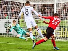 Un gol de Petersen decidió la victoria del Freiburg. Twitter/scfreiburg