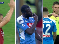 Roma's games with Napoli was marred by offensive chanting. Captura/Movistar