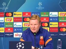 Koeman falou sobre o Juve-Barça e sobre o 'Clásico'. Captura/FCBarcelona