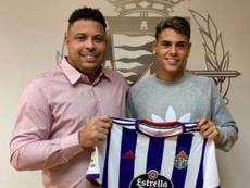 El Valladolid confirmó a Lucas Freita, el primer 'fichaje Ronaldo'. Captura/Ronaldo