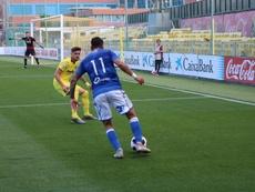 Un doblete de Menudo acercó la clasificación para el Melilla. Twitter/UDMelilla