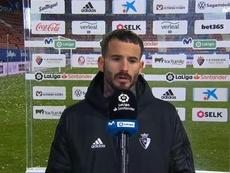 Rubén García se mostró satisfecho con el empate. Captura/MovistarLaLiga