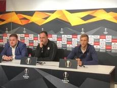 El técnico del Slavia analizó la clasificación de su equipo. Slavia
