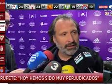 El director deportivo 'perico' protestó tras el Valladolid-Espanyol. Captura/GOL