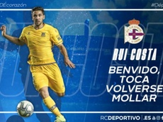 El Deportivo se lleva a Rui Costa. Twitter/RCDeportivo