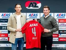 Maxim Gullit sigue los pasos de su padre Ruud. AZAlkmaar