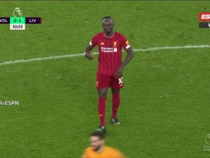 Mané sort sur blessure. Capture/ESPN