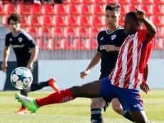 El Atlético no pudo con el Qarabag. Twitter/AtletiAcademia