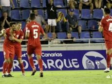 Ibán Salvador (i) marcó el gol de la victoria. LaLiga
