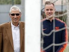 Sadurní y Ter Stegen charlaron en la ciudad deportiva azulgrana. FCBarcelona