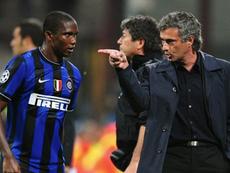 Eto'o et sa relation avec Mourinho. AFP