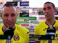 Cazorla y Bruno se acordaron de los fans. Capturas/MovistarLaLiga