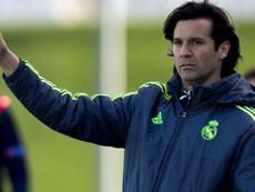 Santiago Hernán Solari entrenando al Real Madrid Castilla. EFE/Archivo