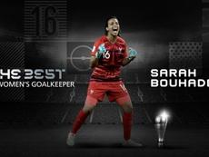 Sarah Bouhaddi, la mejor portera del 2020. Twitter/FIFAWWC