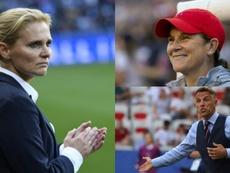 Los candidatos al 'The Best' a mejor entrenador de fútbol femenino. AFP