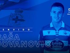 Sasa Jovanovic, cedido al Dépor. RC Deportivo
