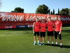 Saúl, Koke, Giménez y Oblak, los capitanes del Atlético para la temporada 19-20. Twitter/Atleti