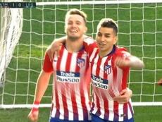 L'Atlético prend l'avantage avec un penalty. Capture/ESPN