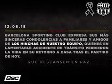 13 people have been confirmed dead. Twitter/BarcelonaSC