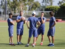 Scaloni, Aimar e Walter Samuel Seleção Argentina. Argentina/EFE