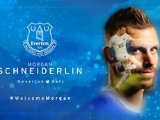 Everton welcoming Schneiderlin. Everton FC