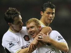 Neville had serious doubts about Scholes' football future in their academy days. TWITTER