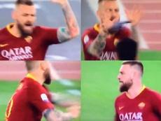 Lección de capitanía de De Rossi ante el Bologna. Capturas/ESPN