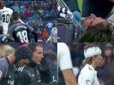 Modric levou a pior. Capturas/beINSports