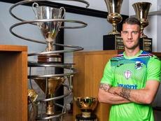 Seculin llega cedido a la Sampdoria. Twitter/Sampdoria