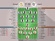 Senegal v Algeria, Africa Cup of Nations final, 19/07/2019 - official line-ups. BeSoccer