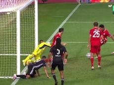 Gnabry segna il goal del radoppio. MovistarLigadeCampeones