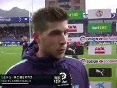 Sergi Roberto considered Eibar clash a good test. Screenshot/beINSports