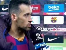 Busquets fait l'éloge de Messi. Capture/Movistar