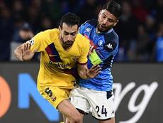 Busquets analyse le match contre Naples. EFE