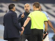 Conceiçao desveló la charla tensa que tuvo con Guardiola. AFP