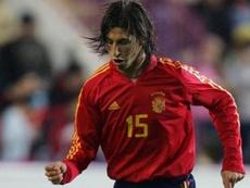 Sergio Ramos, o jogador com mais minutos disputados pela Espanha. EFE