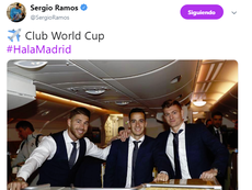 Madrid have switched their focus to the Club World Cup. Twitter/SergioRamos