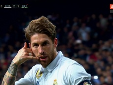 Sergio Ramos célèbre son but face au Real Bétis. ESPN
