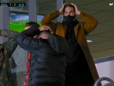 La reacción de Ramos al penalti no pitado a Hazard. Captura/MovistarLaLiga
