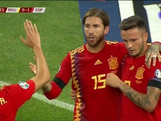 Ramos spoke about the incident which saw him get booked. Captura/TVE