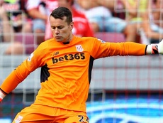 Shay Given no seguirá en el Stoke City. AFP