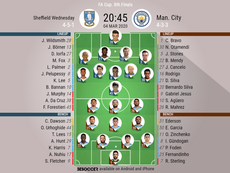 Sheffield Wednesday v Man City, FA Cup last 16 2019/20, 4/3/2020 - Official line-ups. BESOCCER