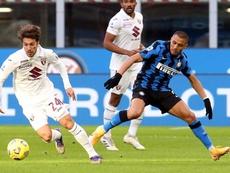 Alexis habló del pasado Inter-Madrid. EFE/EPA