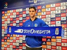 Simone Grippo fue presentado como nuevo jugador del Real Oviedo. RealOviedo