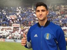 Grippo, nuevo jugador del Oviedo. Twitter/RealOviedo